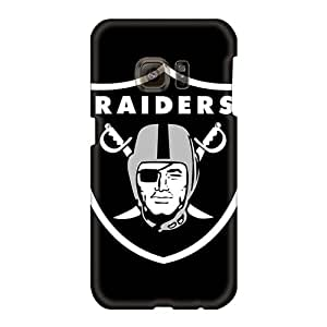 KimberleyBoyes Samsung Galaxy S6 Shock-Absorbing Cell-phone Hard Covers Provide Private Custom Trendy Oakland Raiders Series [sej17074QikI]