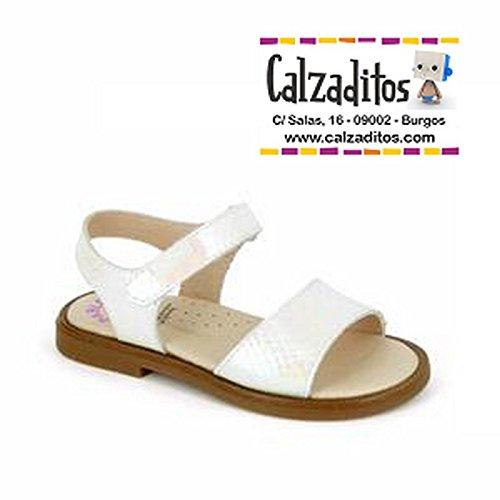b7a11a3bc75a Pablosky Sandalias de piel Blanca Para niña Con nacarado, de Blanco ...