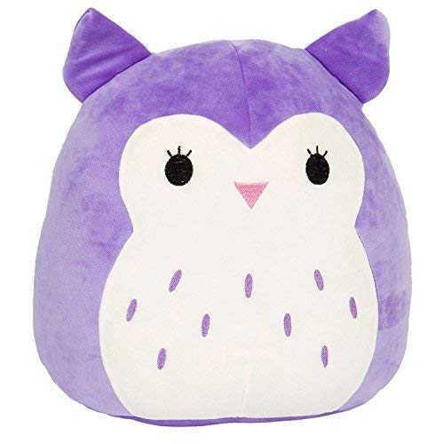 Kellytoy Squishmallow 13'' Holly The Purple Owl Super Soft Plush Toy Pillow Pet Pal Buddy (Holly The Purple Owl)