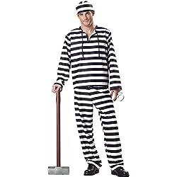 Genluna Jailbird Or Prisoner Costume