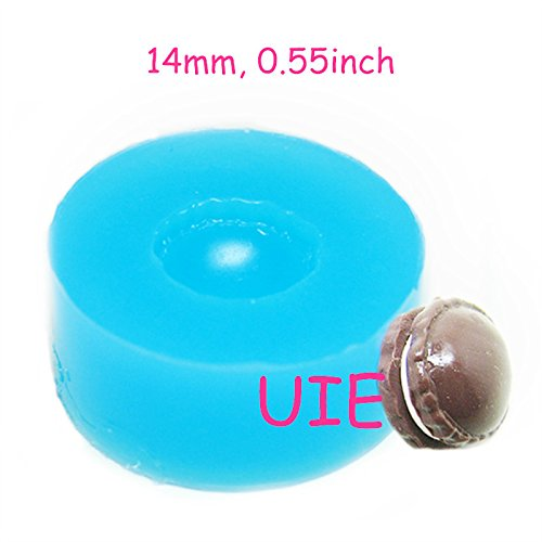 146LBG Macaron Mold 14mm Flexible Silicone Mold Kawaii Deco Sweets Miniature Food Mold Polymer Jewelry Charms DIY Cabochon Mold (Mold Soap Miniature)