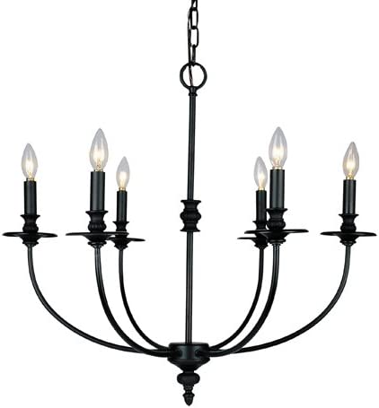Elk 286-Ob Hartford 6-Light Chandelier, 24-Inch, Oil Rubbed