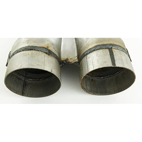 2.25 Inlet 2.25 Inch Outlet 10.00 Inch OAL Length Stamped Steel Exhaust Y Pipe