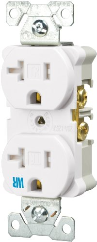 Commercial Tamper (Eaton TWRBR20WBXSP 20-Amp Commercial Grade Tamper and Weather Resistant Duplex Receptacle, White)