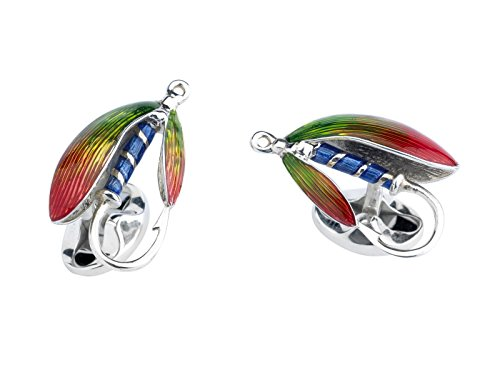 Deakin & Francis Sterling Silver Fly Fishing Cufflinks by Deakin and Francis