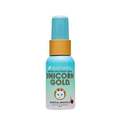 Squatty Potty Unicorn Gold Toilet Spray, Tropical Dropsicle, 2 Fl Oz