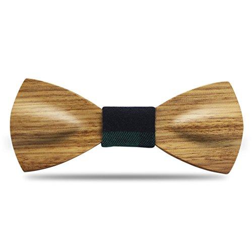 Men Bow Ties YFWOOD Unique Pre Tied Bowtie Vintage Wood Necktie Wedding Party BowtieMen Bow Ties Pre Tied Wooden Bowtie Vintage Wood Necktie Wedding Party Necktie by THAITOO