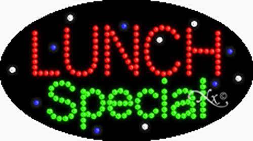 15x27x1 inches Lunch Special Animated Flashing LED Window Sign