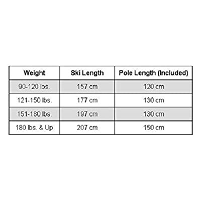 Whitewoods Adult NNN Cross Country Ski Package; Boots, Bindings, Poles, Skis 197cm (for skiers 151-180 lbs.)