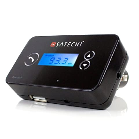 Satechi Bluetooth Hands-free Car Stereo Fm Transmitter for iPhone 6, 5S, 5C, 5, 4S, 4, 3GS, 3G, Samsung Galaxy S4, S3, S2, Note 2, Nexus S, HTC One X, S, Motorola Droid Razr HD, Maxx, Nokia Lumia 920, LG Optimus G and Bluetooth Stereo A2DP supported (Iphone 4s Car Transmitter)