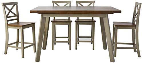 Cambridge 99003-5PC-WG Garden Grove 5-Piece Counter-Height Wood Dining Set Oak Finish