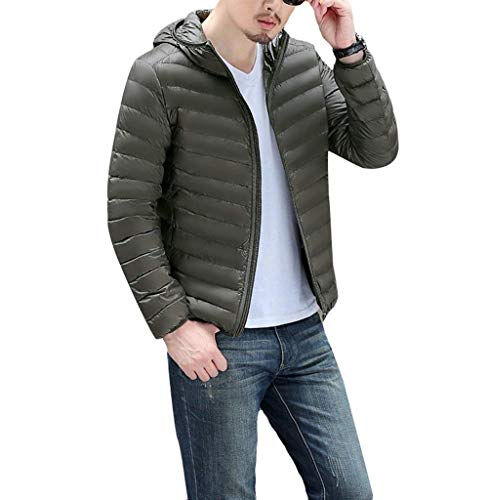 Ultra Clásico Jacket Warm Men's Lightweight Winter Boy Down Down fashion Laisla Coat Hooded Slim Jackets Jacket Collar Armygreen Hood Quilted Stand 7Ewfx