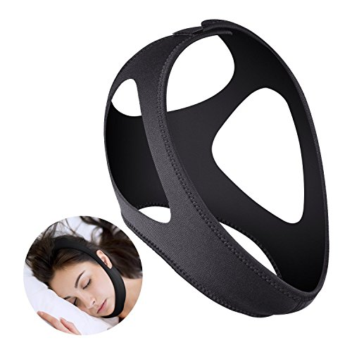 Stop Snoring the Most Effective Adjustable Anti Snoring Chin Strap Sleep Aid Device - Get the Restful Night you Deserve!
