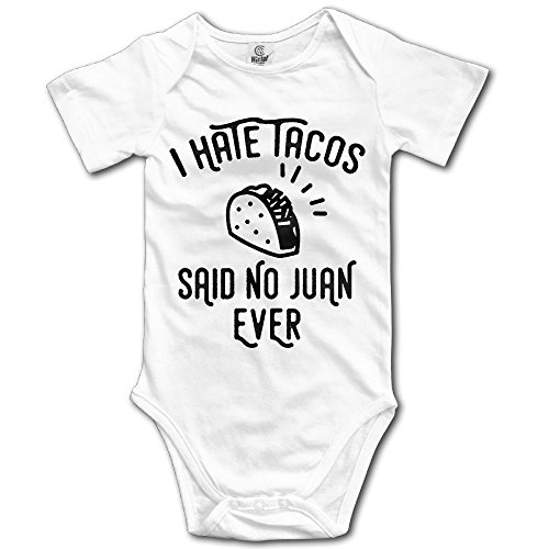 Taco Suit (Dream-R I Hate Tacos Said No Juan Ever Newborn Babys Boy's & Girl's Short Sleeve Jumpsuit Outfits For 0-24 Months White Size 12 Months)
