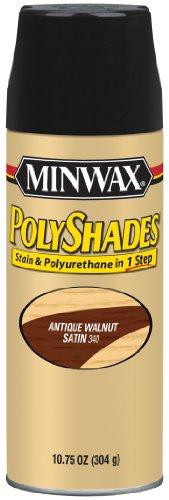 Minwax 313400000 Polyshades - Stain & Polyurethane in 1 Step, 10.75 ounce Spray, Antique Walnut, Satin
