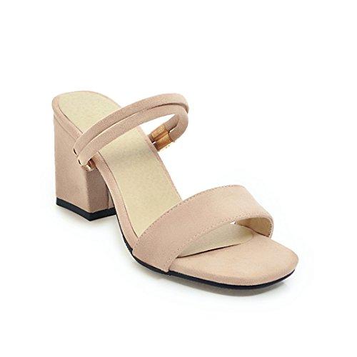 Graphics Video Sandali Bianco Indossare Sandali GAOLIM Tacco Cool Con Sottile Pantofole Alto Di beige Rugiada Estate Il Spessore Opaco qtRwfg