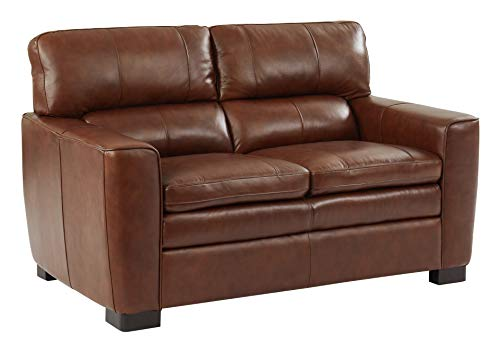 Oliver Pierce OP0353 Douglas Italian Leather Loveseat ()