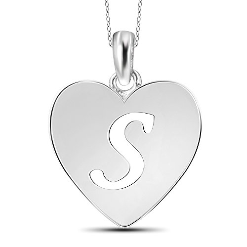Pendant Sterling Initial Silver (Jewelexcess Sterling Silver S