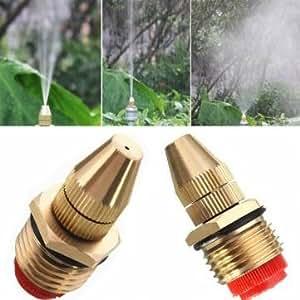 1/2 Inch Brass Adjustable Sprinkler Garden Lawn Atomizing Water Spray Nozzle