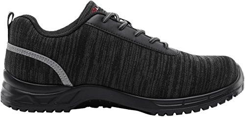 De Punta 30 Hombres Liviano Lm Reflectivo Trabajo S1p Transpirable Ultra Con Zapatillas Acero Zapatos Negro Seguridad qCdq1