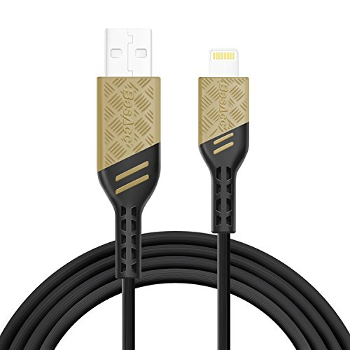 """Price comparison product image BasAcc Apple MFi Certified 3.3FT Lightning to USB Heavy Duty Tough Cable [Viper Series], Tangle-Free Tough-Braided for Sync/Charge iPhoneX/8/8 Plus/7 Plus/6S,iPad Pro 10.5""""/12.9""""/iPad 9.7"""", Armor Sand"""