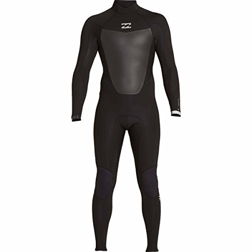 (Billabong Boy's Foil 3/2 Back Zip Sealed Seam Full Wetsuit, Black, 10)