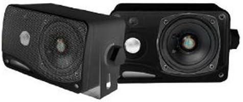 "3 Way Mini Box Weatherproof Marine Speakers 2 Pyle 3.5/"" 200W Outdoor Black"