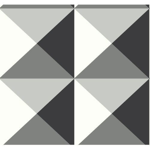 York Wallcoverings RY2752 Risky Business 2 Origami Removable Wallpaper, Black/White/Gray by York Wallcoverings