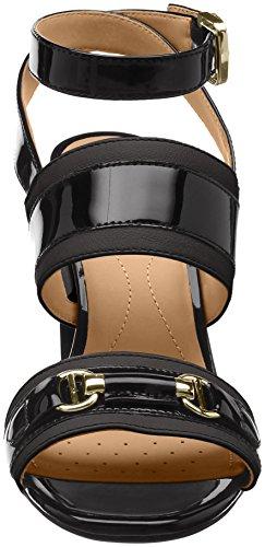 alla Black High con Caviglia Donna Audalies Geox D Cinturino Sandali Nero wBExpcY7vq