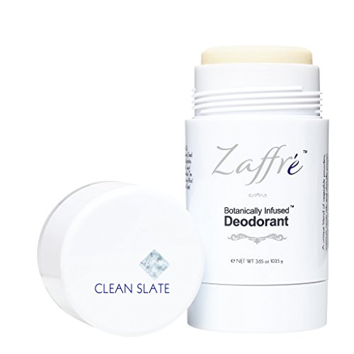 Natural Deodorant by Zaffré, Aluminum Free, Non-Toxic, Alcohol-Free, Vegan Deodorant/Deoderant Stick, Fragrance: Clean Slate (powdery), 3.6 oz