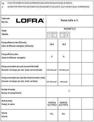 Lofra RRD96MFTE/CI - Cocina (Cocina independiente, Burdeos, Acero inoxidable, Giratorio, Frente, Encimera de gas, medio): Amazon.es: Grandes electrodomésticos