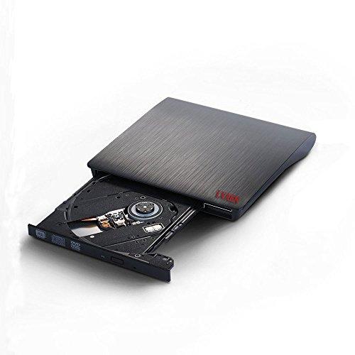 Lvaen External DVD Drive, USB 3.0 Slim Portable CD/DVD-RW Combo Burner Writer Player Optical Drive for Apple Macbook, Macbook Air, Laptops, Desktops (Black) by Lvaen (Image #6)'