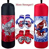 SR Collection Kid's Combo of Punching Bag, Boxing Gloves, Protective Headgear Set, 3-6 Years (Multicolour)