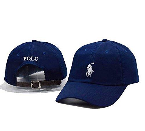Polo Cotton Baseball Cap Boys Girls Snapback Hip Hop Adjustable Hat Blue One Size (Polo Snapback Hats)