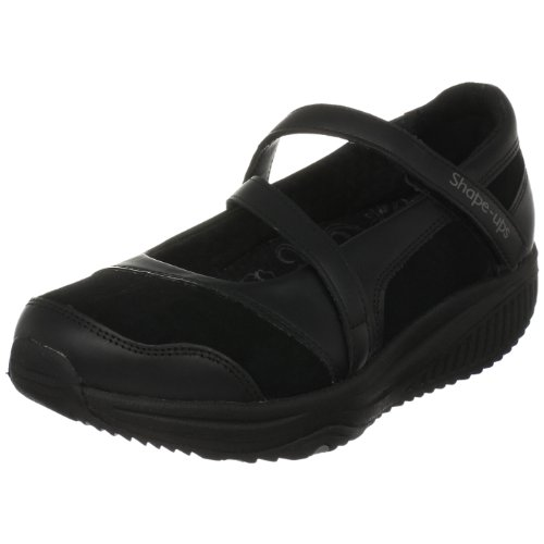 Skechers Shape Ups XW Shoes Hyperactive Womens Leather Fitness Mary Jane Shoes XW / Trainers - Black B003BU3V6G Shoes f7c437