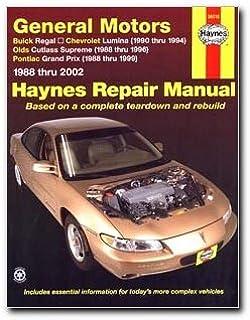 haynes repair manuals gm regal lumina grand prix cutlass supreme rh amazon com Grand Prix GTP Supercharged 3800 Grand Prix Headlights