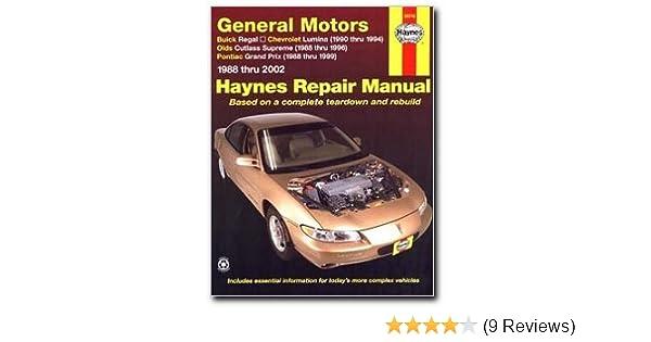 haynes repair manual general motors buick regal 88 02 chevrolet rh amazon com 1995 Buick Regal 2006 Buick Regal