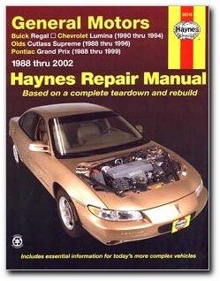 haynes repair manual general motors buick regal 88 02 chevrolet rh amazon com 1998 buick regal repair manual 1988 Buick Regal