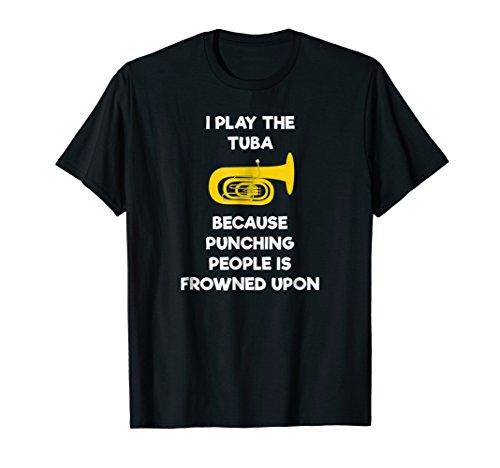 Tuba T-Shirt - Funny Tuba Player Punch ()