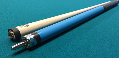 Spliced Maple Shaft (Lucasi Limited Edition Luxe Hybrid LUX LHT89 Fusion Rubber Grip Pool Cue Stick with 11.75mm Shaft & Kamui Tip)