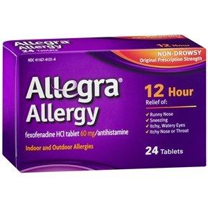 Allegra adultes Allergie 60 Mg 12 heures, 24 comte