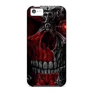 Qlj34671GyuS SashaankLobo Cyborg Skull Red Durable Iphone 5c Cases