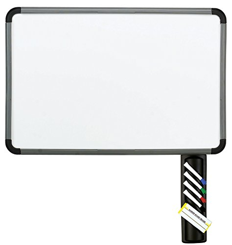 Iceberg Dry-Erase Board with Accessory Tray, 24 by 36-Inch, Charcoal - Freestanding Bulletin Board