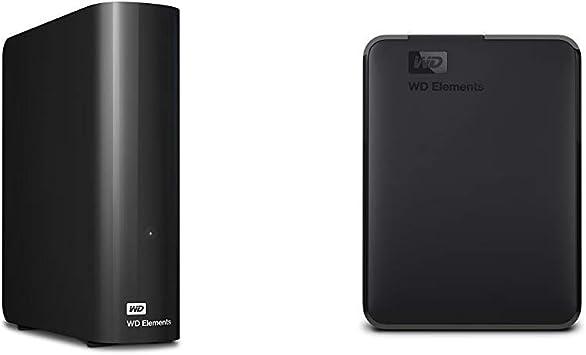 【セット買い】WD HDD 外付けハードディスク 4TB Elements Desktop USB3.0 WDBBKG0040HBK-JESN / 2年保証 & HDD ポータブルハードディスク 4TB WD Elements Portable WDBU6Y0040BBK-WESN USB3.0/2年保証