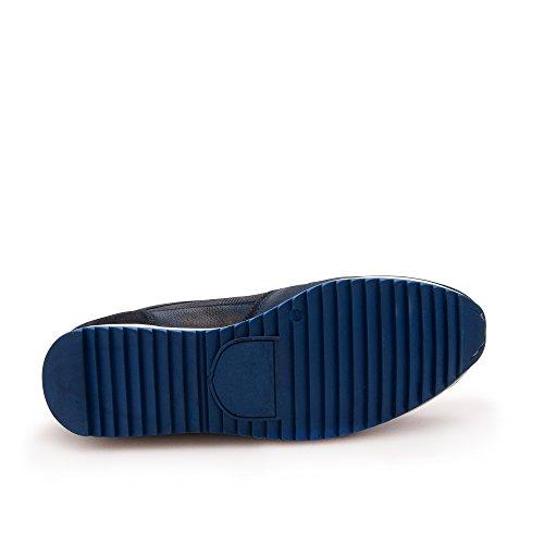 Zerimar Zapato de Piel Deportivo Para Hombre Zapato Cómodo Para Hombre Azul marino