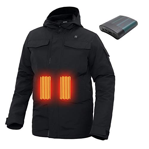 MIDIAN Heated Jacket for Men Women Heated Hoodie BTControl with Battery Pack Winter Heated Coats