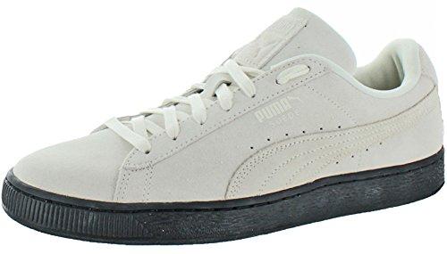 Puma Mens Suede Classic Black Sole Shoes Whisper White/Puma Black NIOnulbX