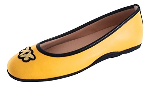 Amarillo Mujer para Bailarinas Piel Pinko de Amarillo XwxP0gw8q