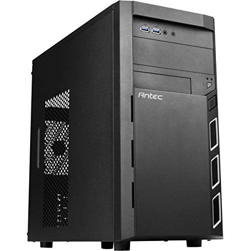Antec Value Solution Series VSK3000 Elite Mid-Tower PC Computer Case with SGCC Steel, 335mm GPU Length, Liquid Cooling, USB 3.0x2, 120mm Fan Installed, 5.25