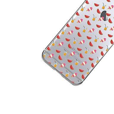 Fundas y estuches para teléfonos móviles, Para la caja transparente de la cubierta del caso del iphone 7plus cubierta suave de la fruta de la caja de la contraportada del patrón ( Modelos Compatibles  IPhone 6s Plus/6 Plus